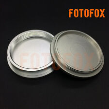 for Leica M39 LTM LSM Leica Screw Mount Silver Metal Body Front & Rear Lens Cap