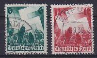 DR Mi Nr. 632 - 633, rund gest. Erfurt etc., Nürnberger Parteitag Dt. Reich 1936