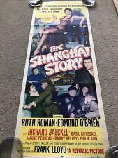 The Shanghai Story (1954) Original US Insert Cinema Poster