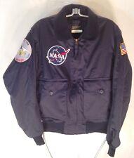 D605 Flight Suits Ltd NASA Flight Bomber Jacket Black Leather Men Size 36