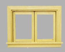 Doppelfenster Plexiglas Naturholz Puppenstube 1:12 oder Diorama Modellbau 1:18