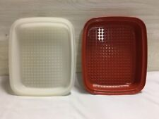 TUPPERWARE SEASON-SERVE MEAT MARINADE CONTAINER LARGE PAPRIKA #1294-2
