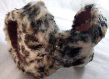 Vintage Fur Scarf Ear Muffs Warmer Winter Wear Antique Leopard Zebra Print MCM