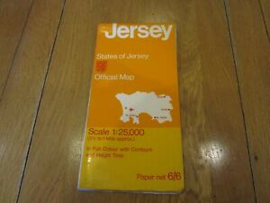 JERSEY MAP - States of Jersey - Official map - Scale 1:25,000