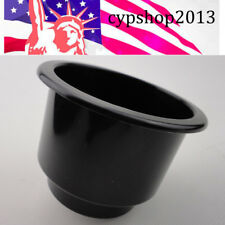 Two Tiered Black Plastic Cup Drink Can Holder Universal Marine Boat Yatch Ven RV