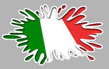 DRAPEAU ITALIEN TACHE FIAT 500 VESPA 120x60mm AUTOCOLLANT STICKER AUTO (IA073)