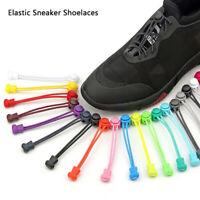 1Pair Elastic shoelaces lock laces no tie triathlon jogging elasticated lace  IH
