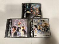 Chrono Cross +  Final Fantasy VIII + IX PlayStation 1 PS1 Complete CIB Bundle