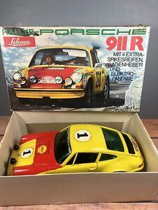 Schuco Rallye-Monte Carlo Porsche 911R Battery Op Car With Box Working! (19)