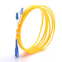 3M LC-SC Singlemode Fiber Optical Optic Patch Cable Cord Jumper LC To SC Yellow
