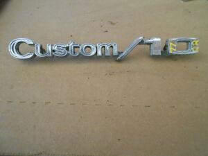 1972 Chevrolet truck Custom/10 emblem SK# 7722