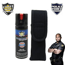 Streetwise 18 - 3 Oz PEPPER SPRAY and Police Force Heavy Duty HOLSTER Sheath