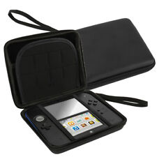 Nintendo 2DS Game Hard Carrying EVA Bag & Soft Silicone Bumper Case Cover-Black.