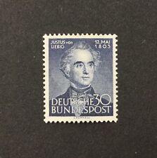 {BJ Stamps} GERMANY, 695. 1953, 30 pf , F-VF, OG, MH. 2017 CV $13.50