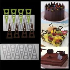 Flexible Chocolate Mold Cake Decoration Triangle Comb Fan Silicone Mould JJ