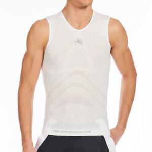 Giordana Cycling Base Layer Lightweight Sleeveless Tubular  Mens-White BRAND NEW