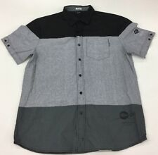 Rocksmith Clothing Visual Audio Button Down T-Shirt Mens Large 100%AUTHENTIC