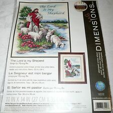 "Dimensions Stamped Cross Stitch Kit THE LORD IS MY SHEPERD 11"" x 14"""