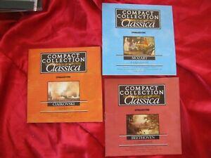 LOTTO DI 3  CD MUSICA CLASSICA: CIAIKOVSKI MOZART BETHOVEN - COMPACT COLLETION