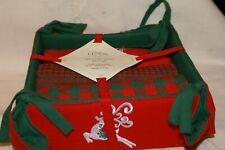 Lenox CHRISTMAS Kitchen Towels Set of 3 & multi-use basket VINTAGE NEW