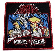 cryptic slaughter money talks   WOVEN  PATCH