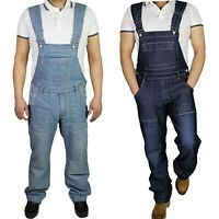 Mens Denim Dungarees King Size Jeans brace Overalls