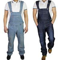 Mens Denim Dungarees Plus Size Jeans brace Overalls