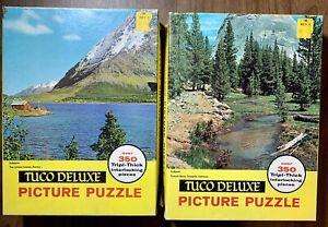 Lot Of 2 Vintage Tuco Picture Puzzle's Interlocking Piece's Norway & Yosemite