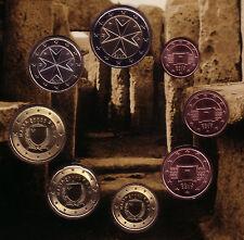 MALTA serie 8 valori - dalla 1 centesimo fino a 2 euro