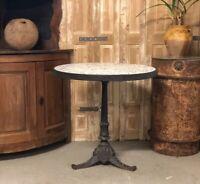 Guéridon Ancien en Fonte de Bistrot Jardin XIXeme Table French