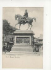 Kings Statue Bombay India Vintage U/B Postcard 063b