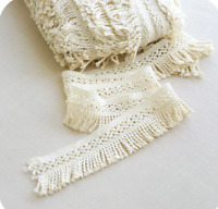 Beige 5cm Trim Tassel Fringe Cotton Lace Ribbon Price per 30cm DIY Craft Decor