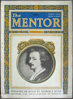 Mentor Magazine - January 1925 Romance of Rings by G. F. Kunz Anthony Van Dyck