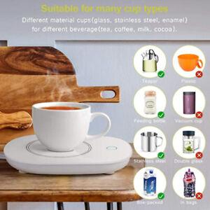 Portable Smart Electric Cup Mug Warmer Tea Coffee Drink Heater Pad Auto Shut Off