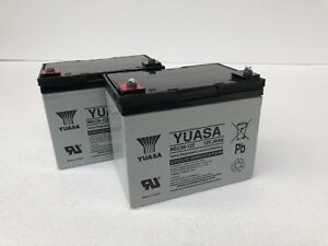 PAIR OF 12V 36AH YUASA MOBILITY SCOOTER BATTERIES UPGRADE FOR 30, 32, 33AH 34AH