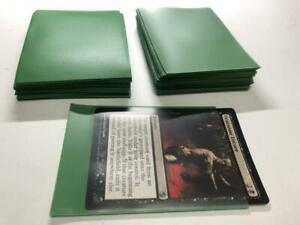 Lenayuyu 100pcs Green Deck Protector Standard MTG Card Sleeves 66x91mm Matte