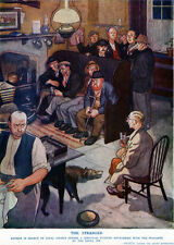 Leslie Illingworth The Stranger AUTHOR SEEKING COLOUR IN PUB 1934 Illustration