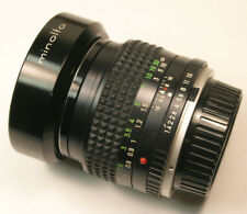Vintage Minolta MC Rokkor - X  PG 50mm f1.4 Manual Focus  Lens, Mint