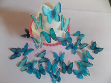 96 **PRECUT** Mini Blue Mix Edible Butterflies cake/cupcake/cake pop toppers