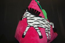 "Hot Pink Zebra Pillow Soft Plush 14"" BEST EVER FASHION Stuffed Animal Lovey Toy"