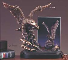 """Bronze Eagle Picture Frame Sculpture 11"""" Wx9.5"""" H NEW"""
