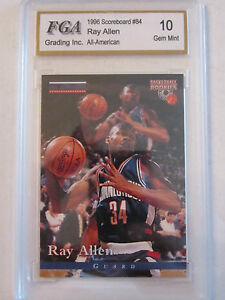 1996 RAY ALLEN #84 FGA GRADED 10 GEM MINT BASKETBALL CARD    BOX W