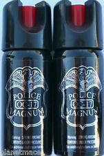 Pack of 2 Police Magnum Twist Lock 2 oz Stream Pepper Spray New-PM2TL-STRMX2