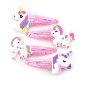 X5 UNICORN Hair Clips Unicorn Kids Girl Hair Accessories Hairclips Hair Slides