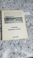 Laketown Elementary School 1970-1971 Yearbook Springfield Illinois 8.27.7