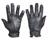 Black Real Leather Comfort Durable Lightweight Horse Rider Gloves