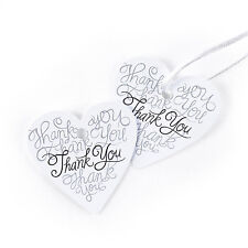 Heartfelt Heart Shaped Thank You Wedding Favor Tags 25/pk