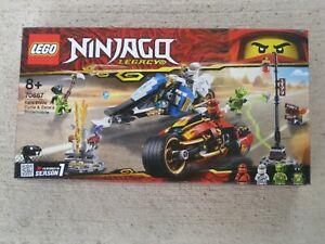 LEGO NINJAGO LEGACY SET 70767 KAI'S BLADE CYCLE & ZANE'S SNOWMOBILE - BRAND NEW