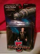Babylon 5 1997 Ambassador Londo Mollari Action Figure w/ Transport DAMAGED PACKA