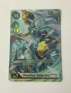 Digimon - Chaosmon: Valdur Arm (Alt Art) - BT4-091 SR- One Year Anniversary Set